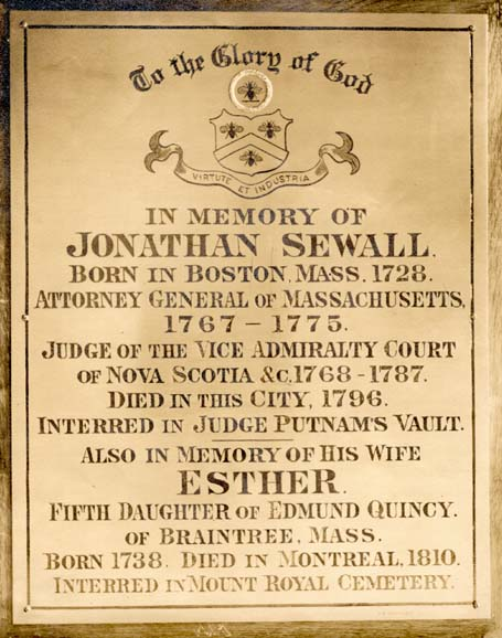 Jonathan and Esther Plaque